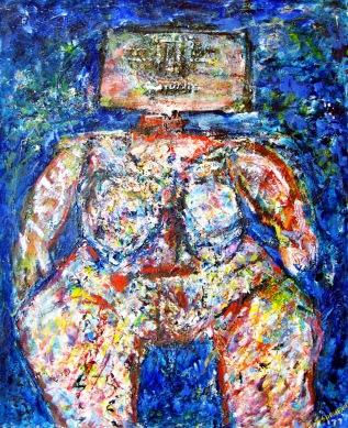 Blockhead Abstract by Sebastian Domenico