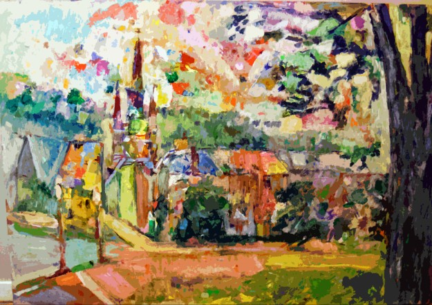 """Churchyard in Daylight"" by Sebastian L. Domenico"